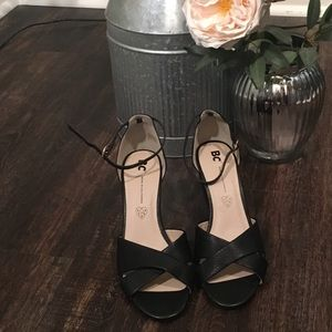 NWOT BC Ankle Strap Peep-Toe Wedges